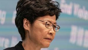 Hong Kong leader Carrie Lam is in Davos this week