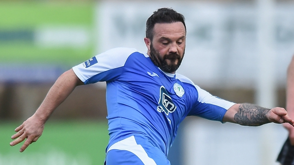 Raffael Cretaro had a big penalty appeal for Finn Harps