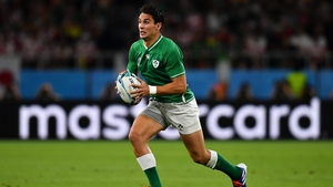 Joey Carbery had to pull out of the Russia game with an ankle issue
