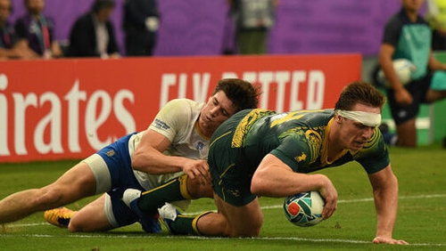 Dane Haylett-Petty gets over for a try