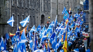 Thousands of people marched in Edinburgh earlier this month calling for Scottish independence