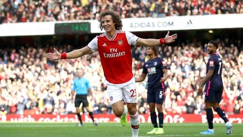 David Luiz celebrates the game's only goal