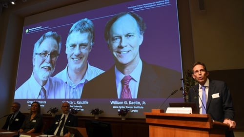 William Kaelin and Gregg Semenza of the US and Britain's Peter Ratcliffe led a research into cells and oxygen