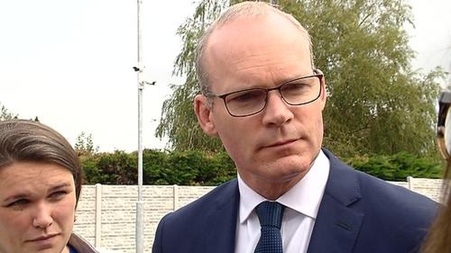 Tánaiste Simon Coveney was speaking from Cork
