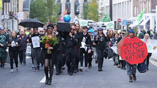 Up to 500 people took part in the demonstration in Dublin city centre