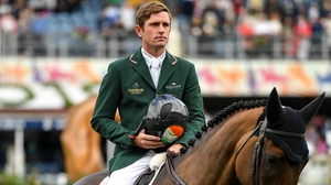 Darragh Kenny was part of the Irish show jumping team that secured a place at Tokyo 2020