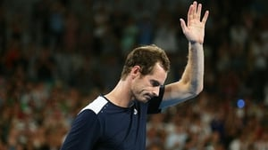 Andy Murray acknowledges the crowd after losing his first round match against Roberto Bautista Agut at the 2019 Australian Open