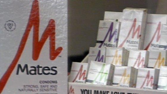 Condoms on Sale at the Virgin Megastore (1989)