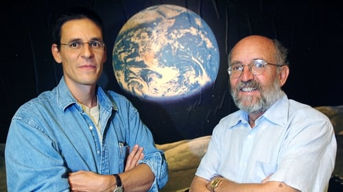 Swiss Astronomers Michel Mayor (R) and Didier Queloz (L) won one half of the Nobel Physics Prize