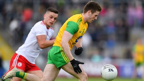 Eoghan Bán Gallagher of Donegal in action during the Ulster SFC semi-final clash with Tyrone last June