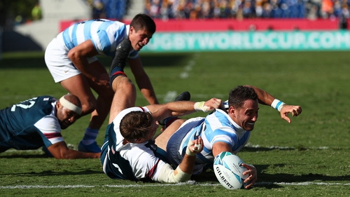 Joaquin Tuculet touches down for Argentina