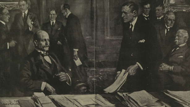 The cabinet meeting to find a solution to the Irish settlement Photo: Illustrated London News, 18 October 1919