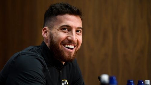 Matt Doherty all smiles at this morning's press conference