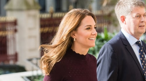 Kate looked autumn-ready in her glamorous outfit. Photo: Getty