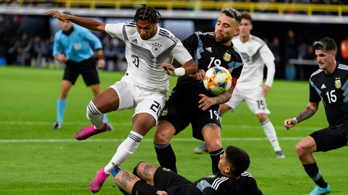 Germany and Argentina met in a friendly in Dortmund tonight