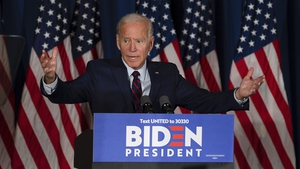 Joe Biden told his supporters at a rally in New Hampshire that the president has 'already convicted himself'