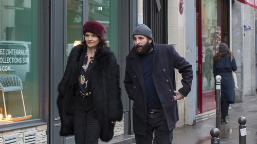 Juliette Binoche as Selina and Vincent Macaigne as Léonard in the charming Non-Fiction