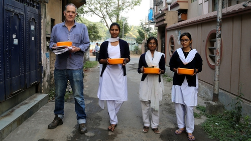 Anyone for cake: Bill's cakes en route to various points in Kolkatta