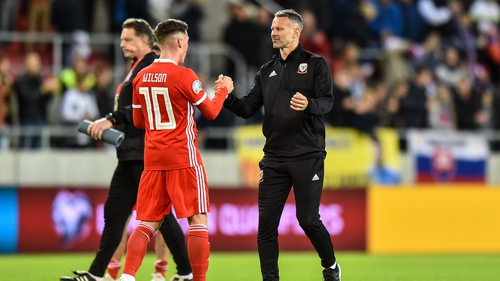 A contented Ryan Giggs after Wales took a 1-1 draw in Slovakia