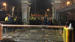 A number of TDs were blocked from leaving Leinster House as a result of the demonstration (Pic: Alan Farrell)