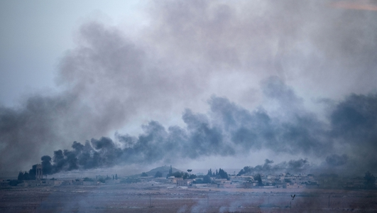 Turkey denies US troops were targeted near Kobani