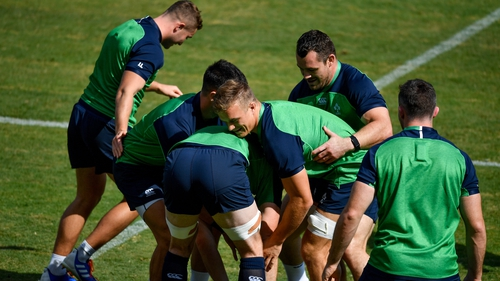 Ireland players put through their paces in the captain's run ahead of their clash with Samoa
