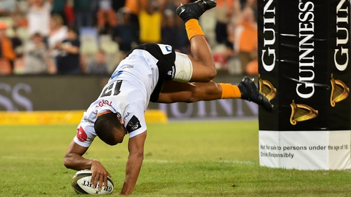 Rhyno Smith charged over the line for the home side's sixth and final try