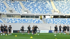The Republic of Ireland trained at Boris Paichadze Dinamo Arena on Friday