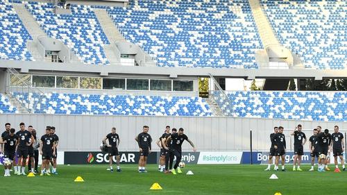 The Republic of Ireland trained at Boris Paichadze Dinamo Arena on Friday