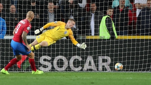 Zdenek Ondrasek slots a famous winner past Jordan Pickford in the England goal