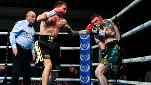 Paddy Barnes had no answer to the sustained onslaughts of Jay Harris