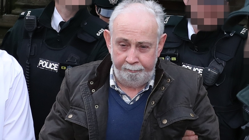 John Downey was remanded in custody following the hearing