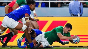 Johnny Sexton scored two tries to set Ireland on their way