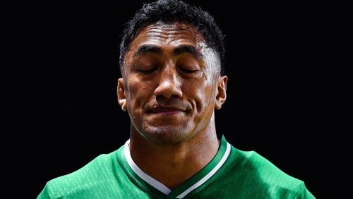 Bundee Aki was sent off for a high tackle on UJ Seuteni in Ireland's 47-5 win over Samoa on Saturday