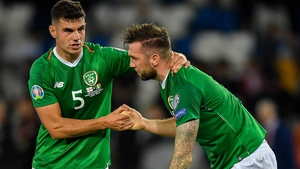John Egan and Shane Duffy were at the heart of the Irish defence in Tbilisi