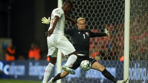 Kasper Schmeichel made a host of top class saves for Denmark