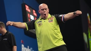 Michael Van Gerwen followed up his previous victories in 2012, 2014, 2016 and 2018 by retaining the title in the double-start tournament for the first time. Picture credit: Lawrence Lustig/PDC