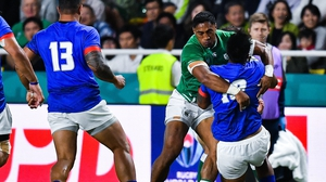 Bundee was sent off for a high tackle on UJ Seuteni in Ireland's 47-5 win over Samoa