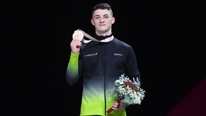 Rhys McClenaghan with his bronze medal