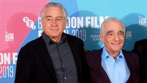 Scorsese pictured with De Niro at the London Film Festival