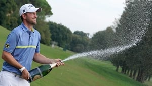 Bernd Wiesberger celebrates his victory
