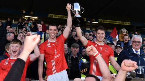 Niall Carty (L) and Ronan Daly left the Fahey Cup