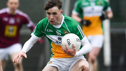 Cian Johnson in action for Offaly U20s