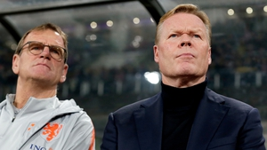 "Ronald Koeman (R) called Northern Ireland's style ""outrageous"" and ""terrible to watch""."