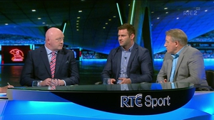 The panel (left to right): Bernard Jackman, Fergus McFadden and Eddie O'Sullivan.
