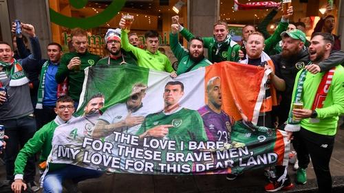 Ireland fans enjoying Geneva this afternoon
