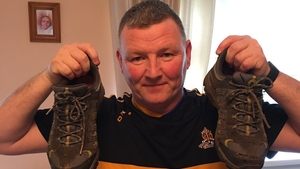 Billy O'Connell and his 'football boots'