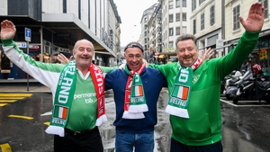 Ireland fans brought the weather with them to rainy Geneva