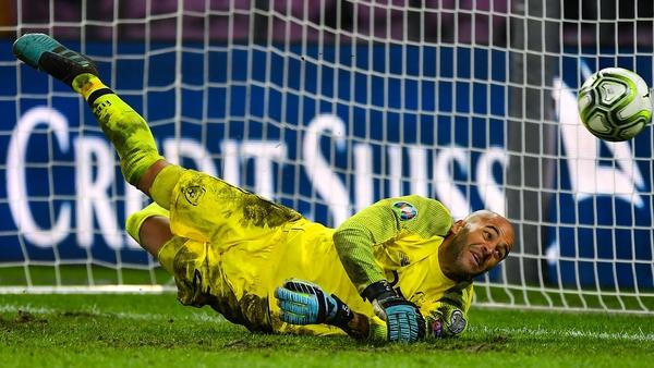 Darren Randolph saves Ricardo Rodriguez's penalty in Geneva