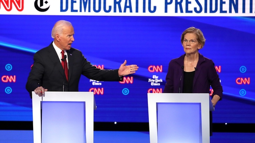 Elizabeth Warren and Joe Biden are the frontrunners in the race to challenge Donald Trump